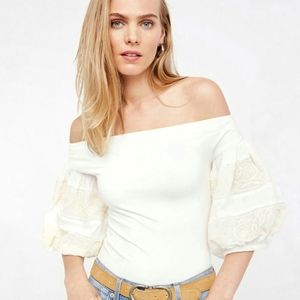 NWT Free People Embroidery Rock With It Top